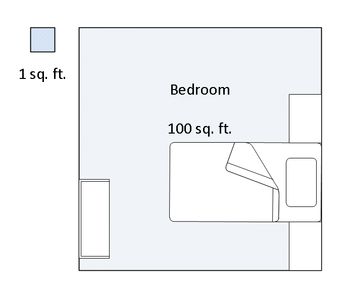 How big is 100 square feet bedroom bedroom review design for 100 square feet room size