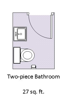 Two Piece Bathroom 2 Piece Bath Gimme Shelter