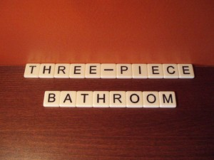 What is a 3 piece bathroom real estate definition for Three piece bathroom