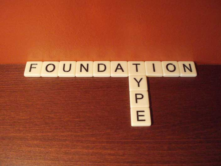 What are the different foundation types real estate for Different foundation types