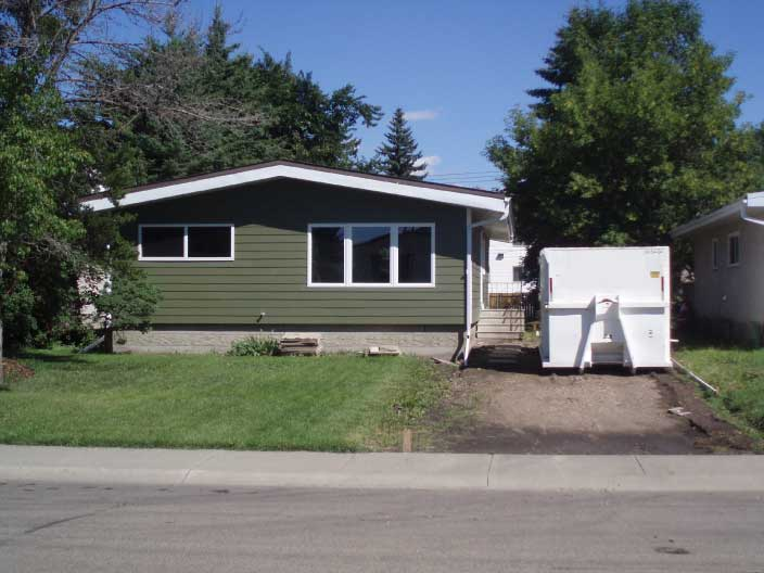 A bungalow being renovated in Jasper Park, Edmonton